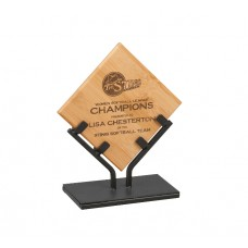 Bamboo Plaque with Iron Stand